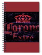Corona Beer Sign 1a Spiral Notebook