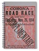 Corona Road Race 1914 Spiral Notebook