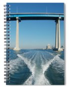 Coronado Bridge Wake Spiral Notebook