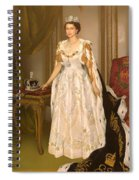 Coronation Portrait Of Queen Elizabeth II Of The United Kingdom Spiral Notebook