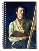 Corot With Easel, 1825 Spiral Notebook