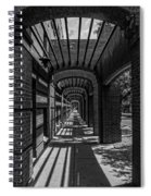 Corridor Of Brick And Stone Spiral Notebook
