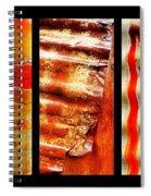 Corrugated Iron Triptych #4 Spiral Notebook