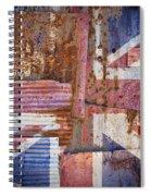 Corrugated Iron United Kingdom Flag Spiral Notebook
