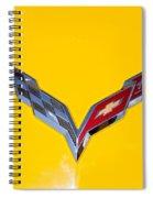 Corvette Emblem On Yellow Spiral Notebook