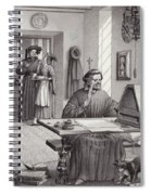 Cosimo Medici Sitting In His Home In Florence Spiral Notebook