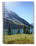 Cosley Ridge Over Cosley Lake - Glacier National Park Spiral Notebook
