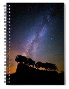 Cosmic Caprock Bison Spiral Notebook