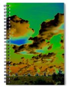 Cosmic Cloud Skyline Spiral Notebook