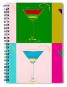 Cosmopolitan Pop Art Panels Spiral Notebook