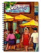 Cosmos  Fameux Restaurant On Sherbrooke Spiral Notebook