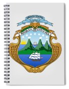 Costa Rica Coat Of Arms Spiral Notebook