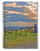 Costa Rica Cow Farm Spiral Notebook