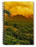 Costa Rica Volcano Spiral Notebook