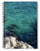 Cote D Azur - Stark White And Silky Azure Blue Spiral Notebook