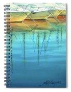 Cote D'azur Harbor Boats Spiral Notebook