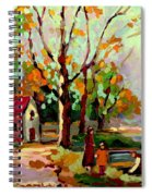Cottage Country The Eastern Townships A Romantic Summer Landscape Spiral Notebook