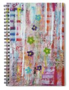 Cottage Flower Garden Spiral Notebook