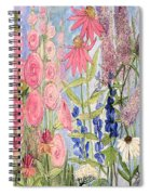Cottage Flowers With Dragonfly Spiral Notebook
