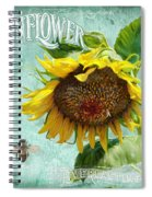 Cottage Garden - Sunflower Standing Tall Spiral Notebook