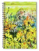 Cottage Gate Seen Through Sun Daisies Spiral Notebook