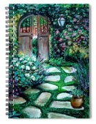 Cottage Gates Spiral Notebook