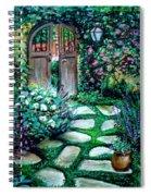 Cottage Gates Spiral Notebook