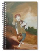 Cottage Girl With Dog And Pitcher Spiral Notebook