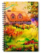 Cottage In Maine Spiral Notebook