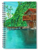 Cottage On Lake  Spiral Notebook