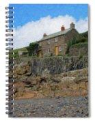 Cottage On Rocks At Port Quin - P4a16009 Spiral Notebook