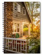 Cottage Sunset In Deep Cove, Nova Scotia Spiral Notebook