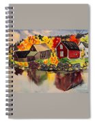 Cottages By A Lake In Autumn  Spiral Notebook