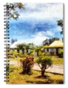 Cottages In A Landscape Spiral Notebook