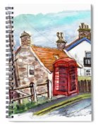 Cottages In Runswick Bay Spiral Notebook