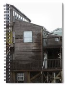 Cottages Of The Past Spiral Notebook