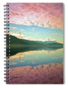 Cotton Candy Clouds At Skaha Lake Spiral Notebook