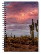 Cotton Candy Pink Sonoran Sunrise  Spiral Notebook