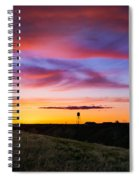Cotton Candy Sunrise Over The Galt Spiral Notebook