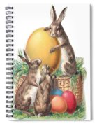Cottontails And Eggs Spiral Notebook