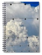 Couds With Lights Spiral Notebook
