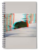 Cougar - Use Red-cyan 3d Glasses Spiral Notebook