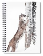 Cougars Tree Spiral Notebook