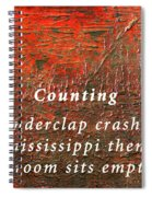 Counting Spiral Notebook