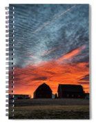 Country Barns Sunrise Spiral Notebook