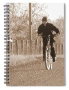 Country Boy And His Bike Spiral Notebook