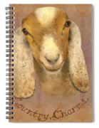Country Charms Nubian Goat With Bright Eyes Spiral Notebook