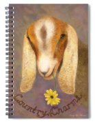 Country Charms Nubian Goat With Daisy Spiral Notebook