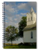Country Chuch Spiral Notebook
