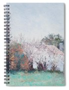 Country Cottage In Spring Time Spiral Notebook